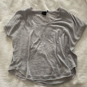 Grey henley short sleeved shirt